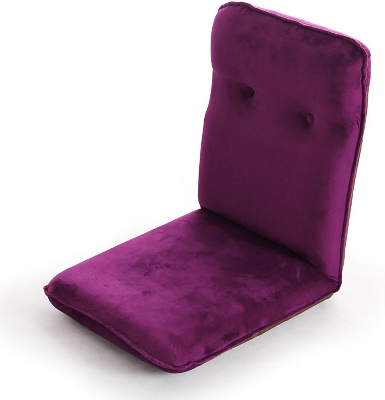 High-Back Chair, Lazy Sofa Purple Floor Chair Modern Simplicity Bed Single Armchair Living Room Balcony Sofa Chair