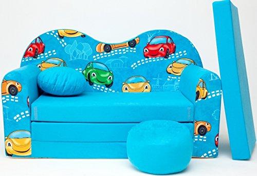 Kindersofa Spielsofa Minicouch aus Schaum Kindersessel Kissen Matratze Farbwahl (19)