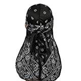 NACOLA Silky Durags with Long Tail Colorful 360 Waves Cap Doo rag for Men Du-rag