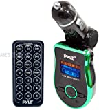 Pyle PMP3G2 Mobile SD/USB/AUX/MP3 Compatible Player with Built-In FM Transmitter -Green