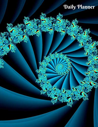 Daily Planner: Fibonacci Spiral Sequence Pattern Fractal Abstract design Math To do...