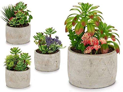 ARTE REGAL Maceta Ceramica Triangular Planta Verde 20x16x16 4 Surtido A Elegir...