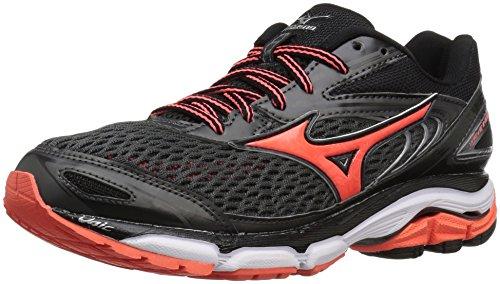 Mizuno Women's Wave Inspire 13 Running Shoe, Dark Slate/Raspberry, 4 UK (M)