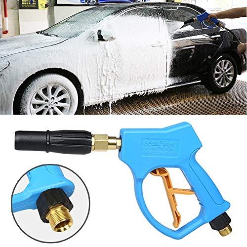 Waterpistool auto druk wasmachine hoge druk korte vaste schuim pistool voor zelfbediening auto wasmachine (buitendraad: 22 X 1.5)