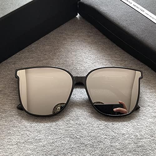 tggh Gafas de sol 2021 para hombre con marco cuadrado de moda para mujer, gafas de sol de diseño suave, gafas de sol populares Star GM (lente de color: paquete original)