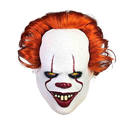 KLJAI ny clownmask skräck headset cosplay halloween huvud set ny gyllene skicka tillbaka själ clown, ny gyllene skicka tillbaka själ clown