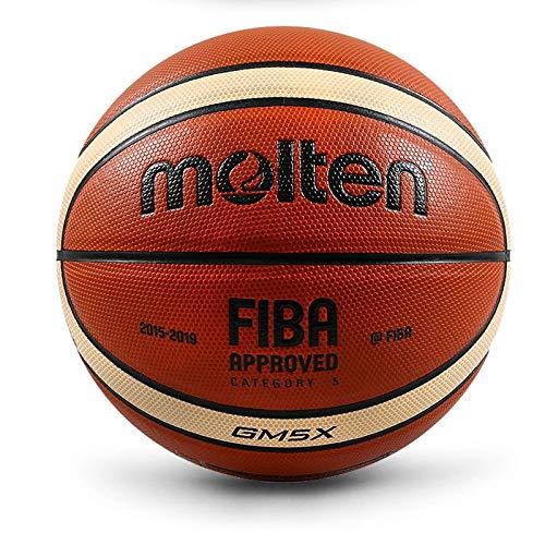 Pelota de Baloncesto Baloncesto Ball 5 Interior / Exterior Durable Baloncesto Competición Entrenamiento PU Cuero Baloncesto