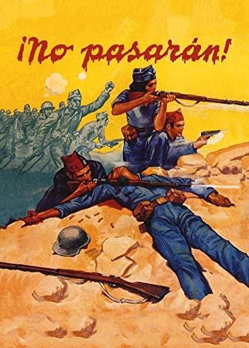 """World of Art - Lámina de cartel de propaganda de la Guerra Civil española 1936-39 con mensaje """"¡No Pasarán!"""" (250 g/m², tamaño A3)"""