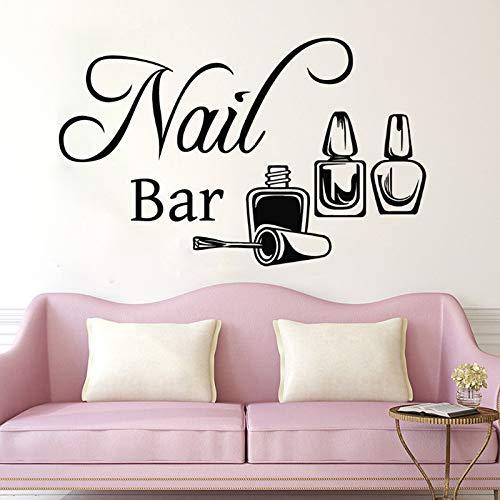 Tianpengyuanshuai Nagellack Streifen Entfernung Vinyl Wandaufkleber Salon Maniküre Schlafzimmer Aufkleber Home Decoration 50X80cm