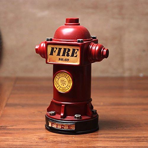 Weq Estilo Industrial Retro Loft Fuego Estadounidense hidrante Inicio Creativa apoyos Bar Decoraciones Adornos Mostrar la mercancía (Color : Red)