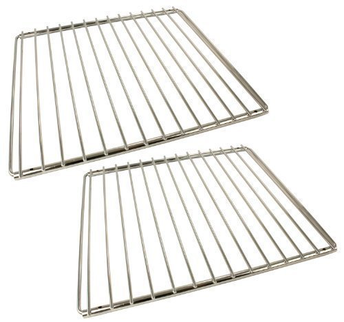 Universal Chrome Plated Adjustable Locking Arm Oven Cooker Shelves (Pack of 2)