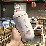 Tasse à café isotherme Dong, double paroi en acier inoxydable avec couvercle anti-fuite, réutilisable pour café, thé et bière,, D, 401-500ml