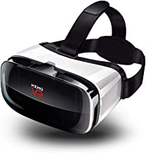 WZHESS 3D VR Glasses,3D Virtual Reality Headset, Goggles Gear, 3D VR Glasses VR 3D Box for Any Phone (iPhone 6/7/8/Plus/X and All Android Smartphone)