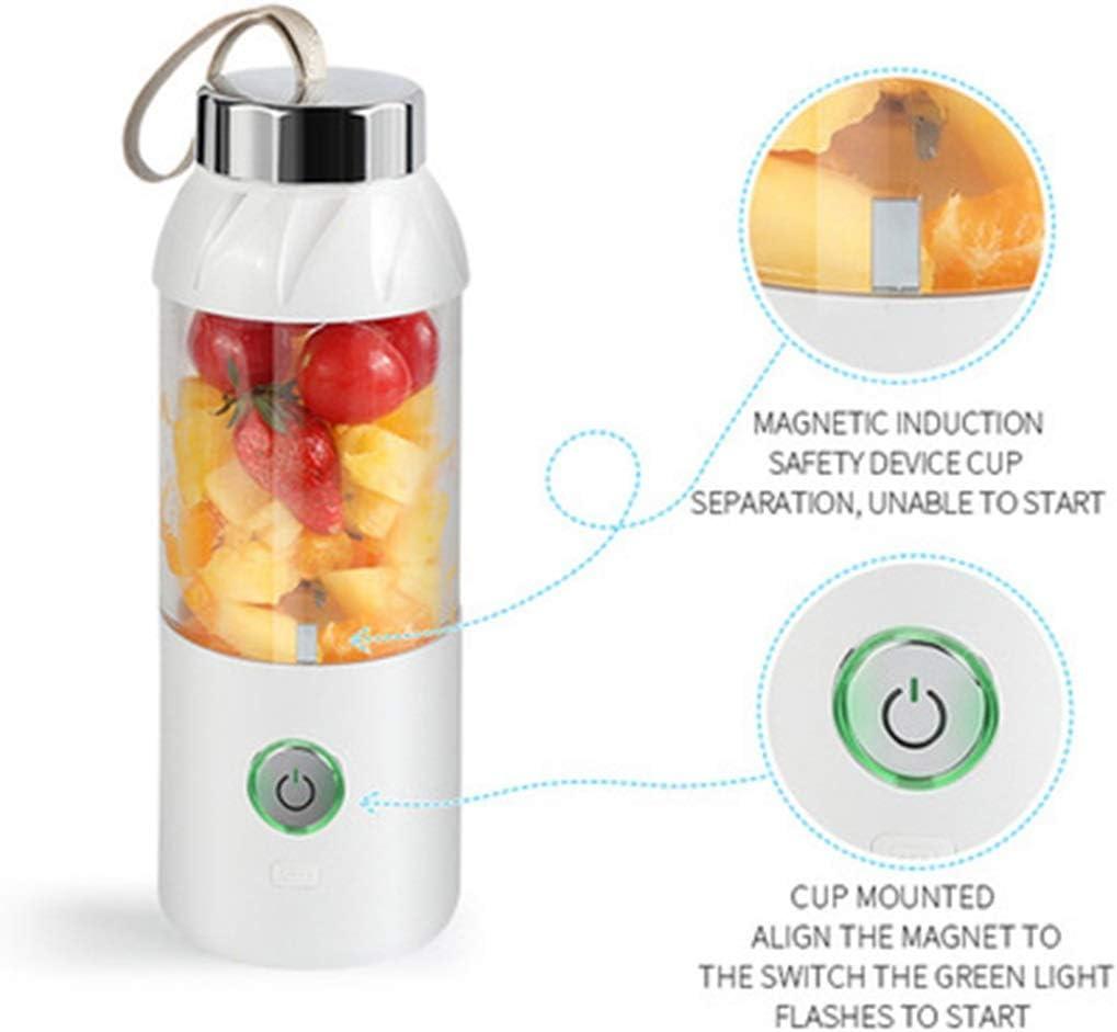 Juicer - Cargador USB Juice Cup Portable para Verduras y jugos (Color : Blue) White