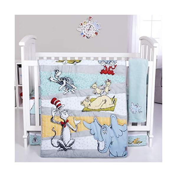 Trend Lab Dr. Seuss Book Club 4Piece Crib Bedding Set