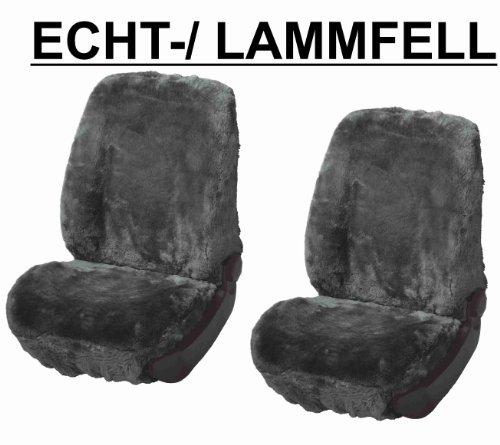 RAU Rlammfellpaar009 Schonbezug Paar Lammfell Anthrazit