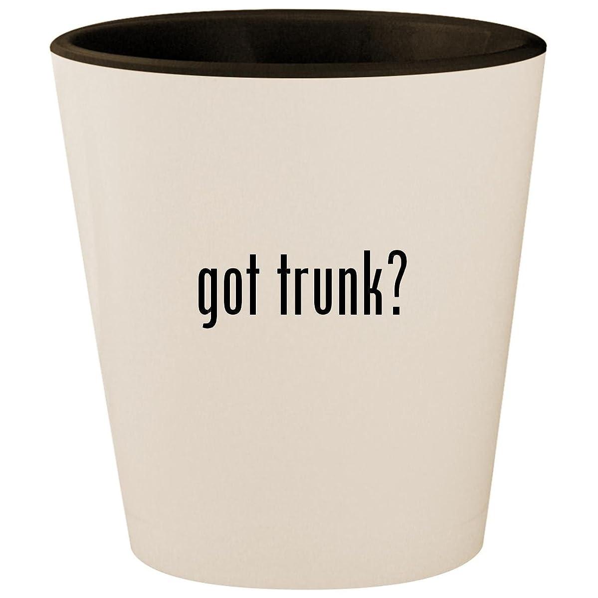 got trunk? - White Outer & Black Inner Ceramic 1.5oz Shot Glass