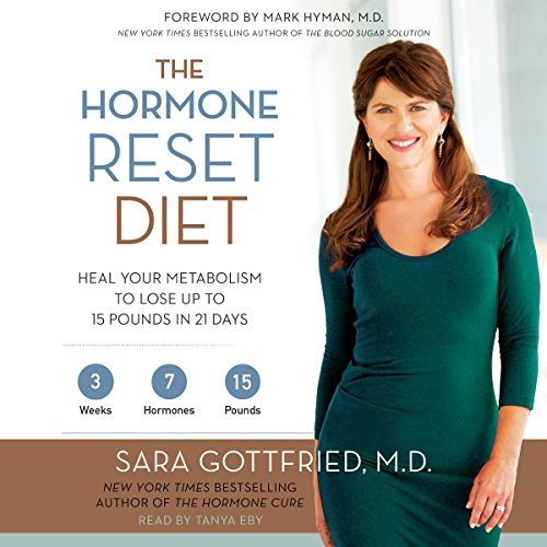 The Hormone Reset Diet     Heal Your Metabolism to Lose Up to 15 Pounds in 21 Days              By:                                                                                                                                 Sara Gottfried                               Narrated by:                                                                                                                                 Tanya Eby                      Length: 7 hrs and 15 mins     219 ratings     Overall 4.2