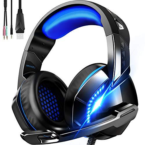 ゲーミングヘッドセット 高音質 ヘッドホン 軽量 ヘッドセット マイク付き ゲーム用 ヘッドフォン 有線 3.5...