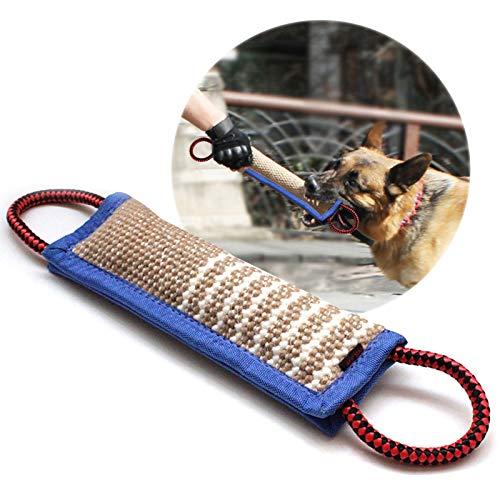 onebarleycorn - Beisswurst für Hunde, 30 cm mit Zwei Griffen Jute Beisswurst Tauziehen und Zerrspiele mit Hund, Hundebiss Schlepper Spielzeug Robustes Hundespielzeug