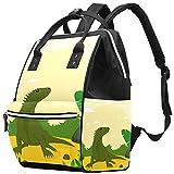 Zaino multifunzione grande per pannolini, con motivo a animali Iguana, borsa da viaggio per mamma e papà