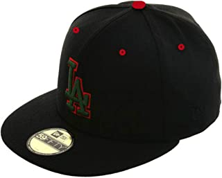 Los Angeles Dodgers Fitted Size 8 Hat Cap - Black