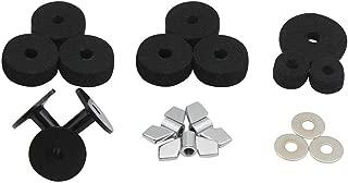 Kalaok Set di accessori per batteria 6 rondelle in feltro per piatti con piedistallo PCS 2 kit di sostituzione astucci per piatti per mensola per batteria