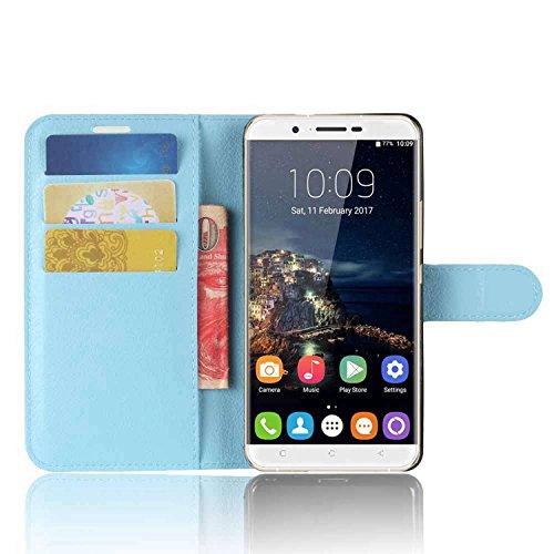 Tasche für Oukitel U16 MAX Hülle, Ycloud PU Kunstleder Ledertasche Flip Cover Wallet Case Handyhülle mit Stand Function Credit Card Slots Bookstyle Purse Design blau
