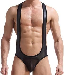 HP95 Men's G-String Underwear Sexy Jockstrap Leotard Wrestling Singlet Bodysuit