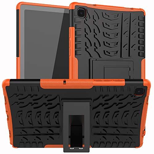 XITODA Funda para Samsung Galaxy Tab A7 10.4 2020,TPU Silicone & Duro PC Protección con Stand Carcasa para Samsung Galaxy Tab A7 LTE WiFi (SM-T500/T505/T507) 10,4 Pulgadas Tablet,Naranja