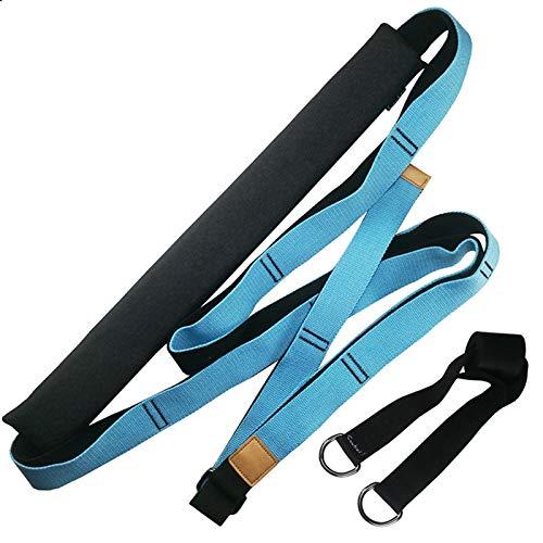 HWNGDI Correa de Yoga aérea Ajustable Hamaca Swing Swing Estiramiento Anti-Gravedad Inversión Ejercicios Multilayer Belt Yoga Flexibilidad Trainer Fácil de Instalar (Color : A Blue)