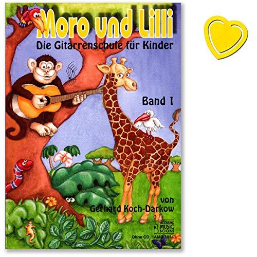 Moro und Lilli Band 1 (ohne CD) - die Gitarrenschule für Kinder von 6 bis 10 Jahre von Gerhard Koch-Darkow - kindgerechter Aufbau, großes Notenbild - Melodie und Akkordspiel - mit Notenklammer