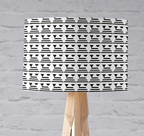 Schwarz-weißer Art-Deco-Lampenschirm