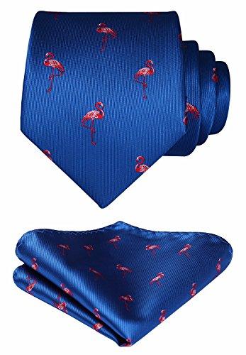 HISDERN Red-Crowned Crane Wedding Party Tie Panuelo corbata de los hombres y juego de bolsillo...