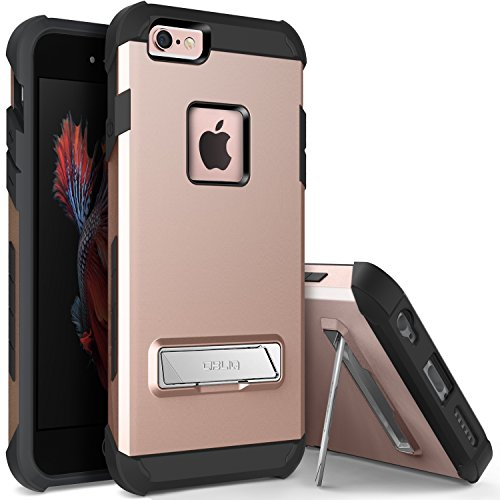 OBLIQ iPhone 6S Plus Case, [Skyline Advance][Rose Gold] with Magnetic Kickstand Dual Layered Soft Interior Exact Fit Hard Protection Case for iPhone 6S Plus (2015) & iPhone 6 Plus (2014)