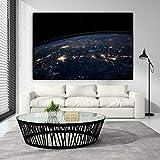 YHZSML Cuadro en Lienzo Carteles e Impresiones Globo terráqueo Planeta Imágenes de Pared para Dormitorio Imagen Decorativa para el hogar Sin Marco 50x70cm