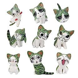 Gartendeko – 9 Miniatur Katzen für Garten