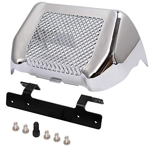 H-Ruo Chrome Oil Cooler Cover Kit with Bracket for Harley Road King FLHR FLHRC Street Glide FLHX FLHXS 2017-2020 (Silver)