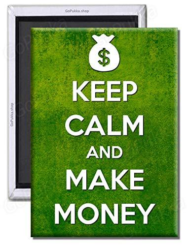 Pukka Printing Kühlschrankmagnet Keep Calm and Make Money, Plastik, Standard: 70x45mm