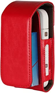 Electronic Cigarette Leather Pouch Bag Case Box Holder Storage for iQOS (Red)