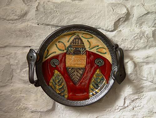 Wall Hanging Pottery Decor, Anniversary gift, Ceramic Platter