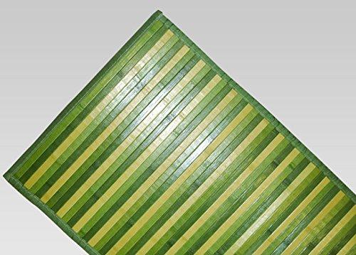 BIANCHERIAWEB Tappeto Bamboo Degradè in Varie Colorazioni 50x290 cm Verde