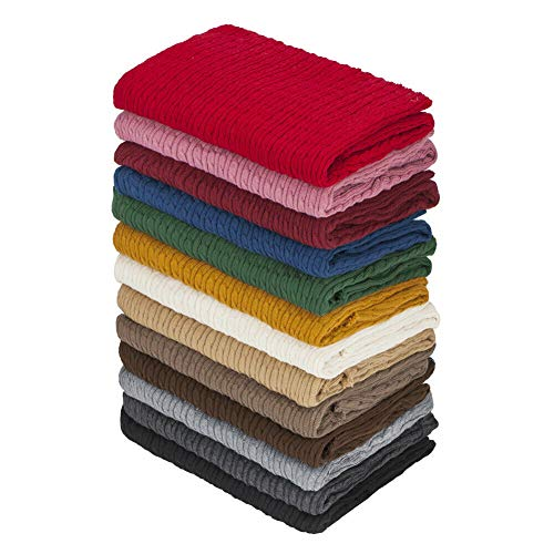 Neotrims Cable Twist Knit Fabric, Selvedge Edge 14 Colours, Knitted Sweater Style Cotton Feel Material. Superb Cloth for Apparel, Accessories and to Make Baby Wraps Blankets. Cream, 1 Meter