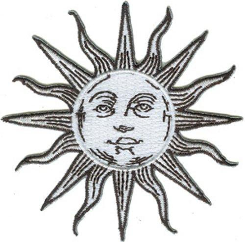 SUN, MOON & STARS Application AnwendungSun Patch Fleck Patch Fleck Iron-On / Sew-On Sun and Moon Patch Fleck Officially Licensed Pop Culture Artwork, 3.3