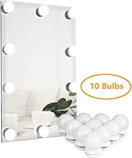 Runoob Hollywood Style Led Vanity Mirror Light(Reflector, Mirror Lamp, Makeup Lamp) Make Up Table Mirror Light Set for Cosmetic Mirror, Mirror Not Included (10 Bulbs)