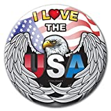 I LOVE THE USA EAGLE WING Buttons - Six Pins - American Pride Badges