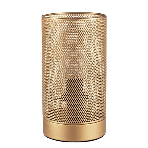 Pauleen 48099 Golden Mesh Tischleuchte max20W E14 Meshlampe Drahtnetz Gold Tischlampe 230V Metall