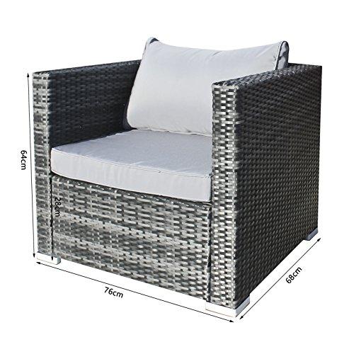 Hansson Polyrattan Gartenmöbel Lounge Set Sitzgruppe Bild 4*