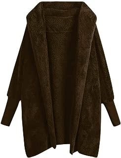 Women Plush Hooded Coat Sweatshirt Winter Warm Pockets Cotton Overcoat Outwear DongDong