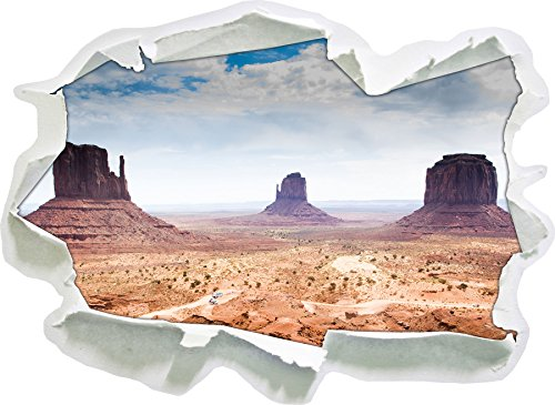 Monument Valley USA, papier 3D taille sticker mural: 92x67 cm décoration murale 3D Stickers muraux Stickers